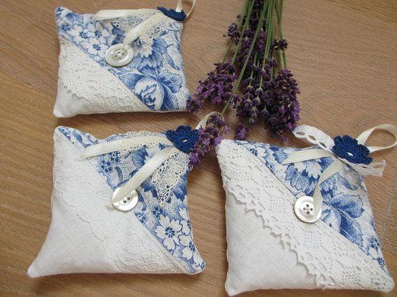 Lavender Pillows Fabric Lace Crochet Flower Lavender Bag Diy Und