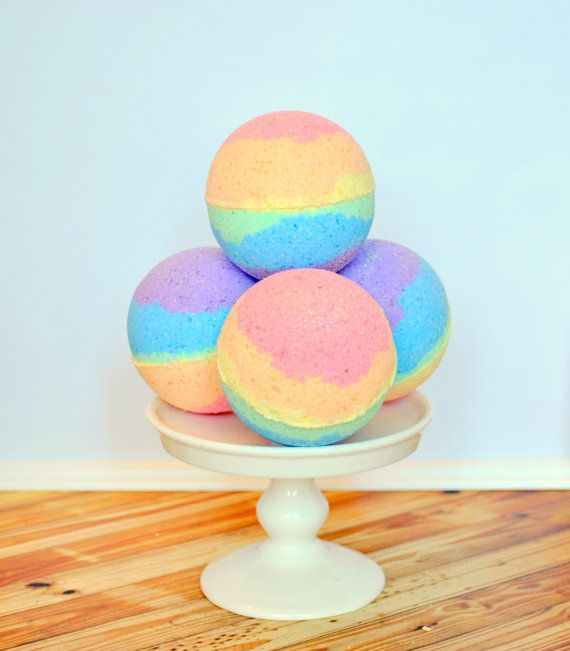 Drop one of these fizzy bath bombs in the tub and relax! Each skin loving ingredient in our bath bombs has been carefully chosen to bring the