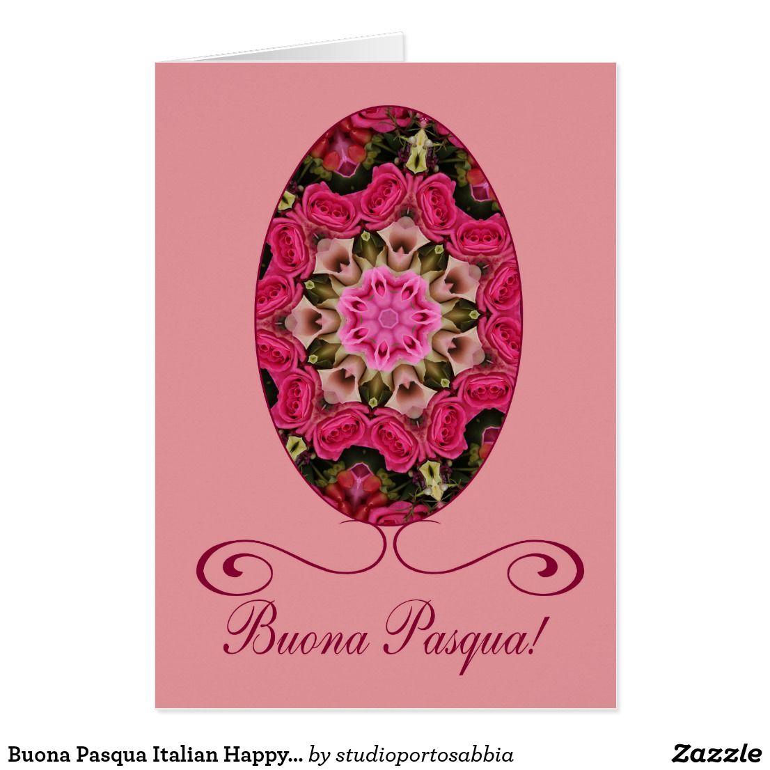 Buona Pasqua Italian Happy Easter Card Stuff Sold On Zazzle