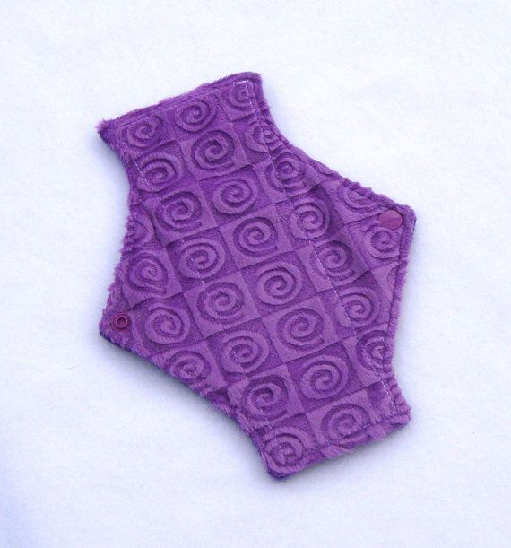 Cloth Menstrual Pad Pantyliner Mama Cloth Minky   by RedRainPads, $8.50
