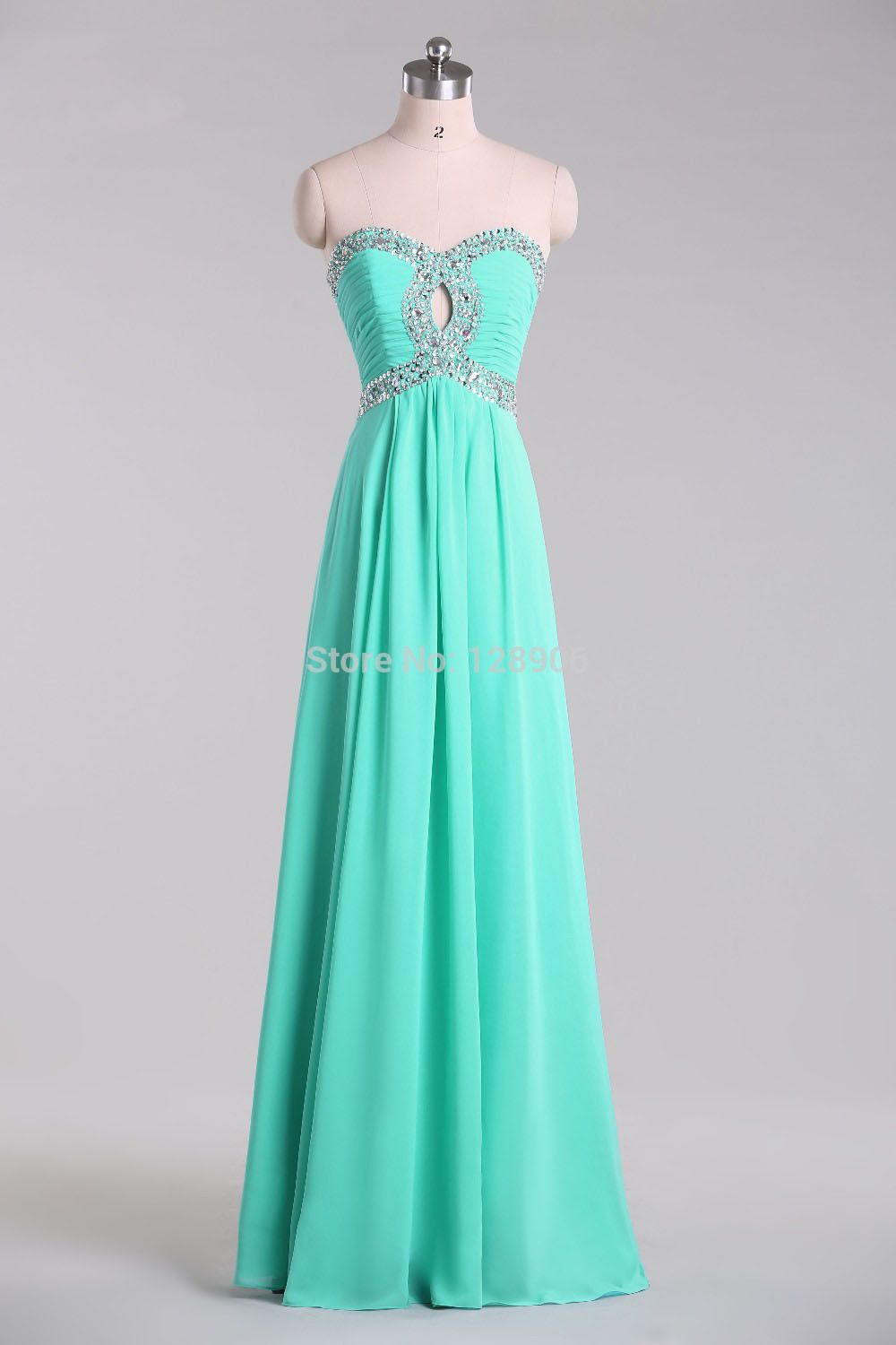 Hot on Sale Mint Green Prom Dress 2015 Sweetheart Beaded Sequins ...