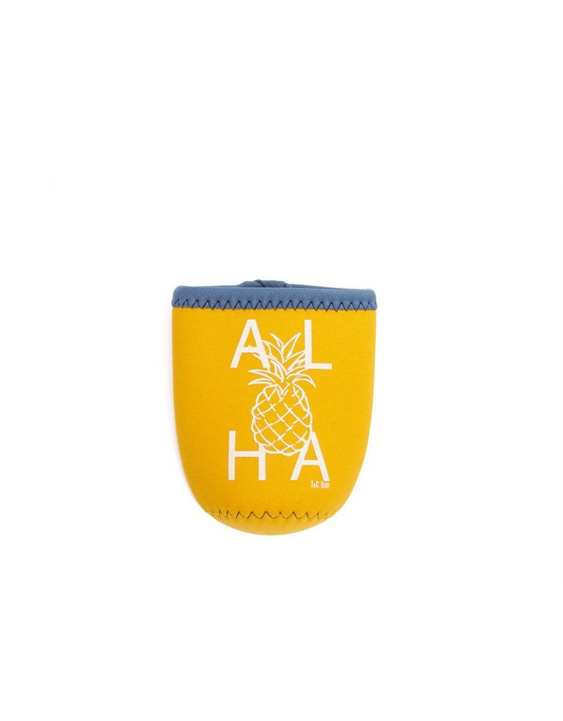 Keep your drinks cool with this one of a kid T&C Aloha Pine Koozie! Neoprene materialScreen print design
