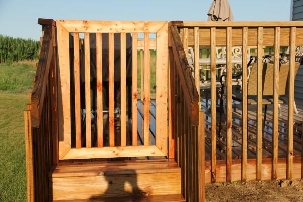 Deck gate do it yourself home projects from ana white decks deck gate do it yourself home projects from ana white solutioingenieria Images