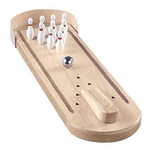 Mini Wooden Tabletop Bowling Game Basics