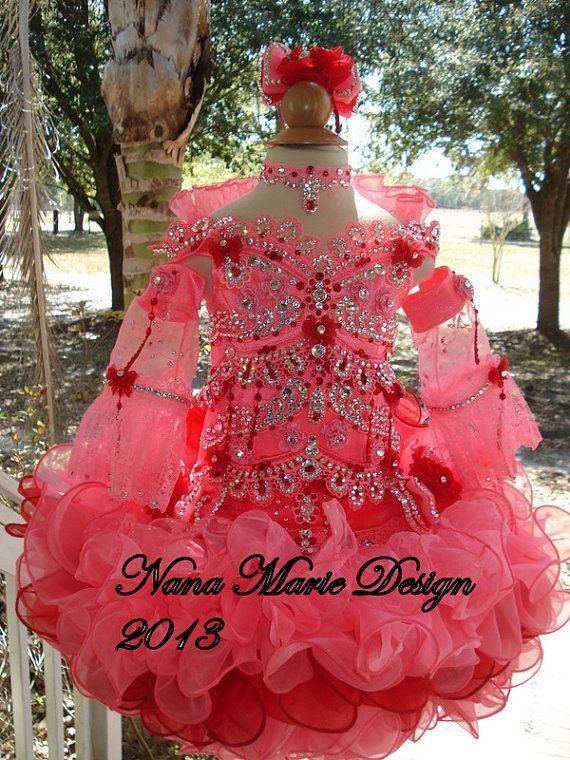 Red Glitz Pageant Dresses