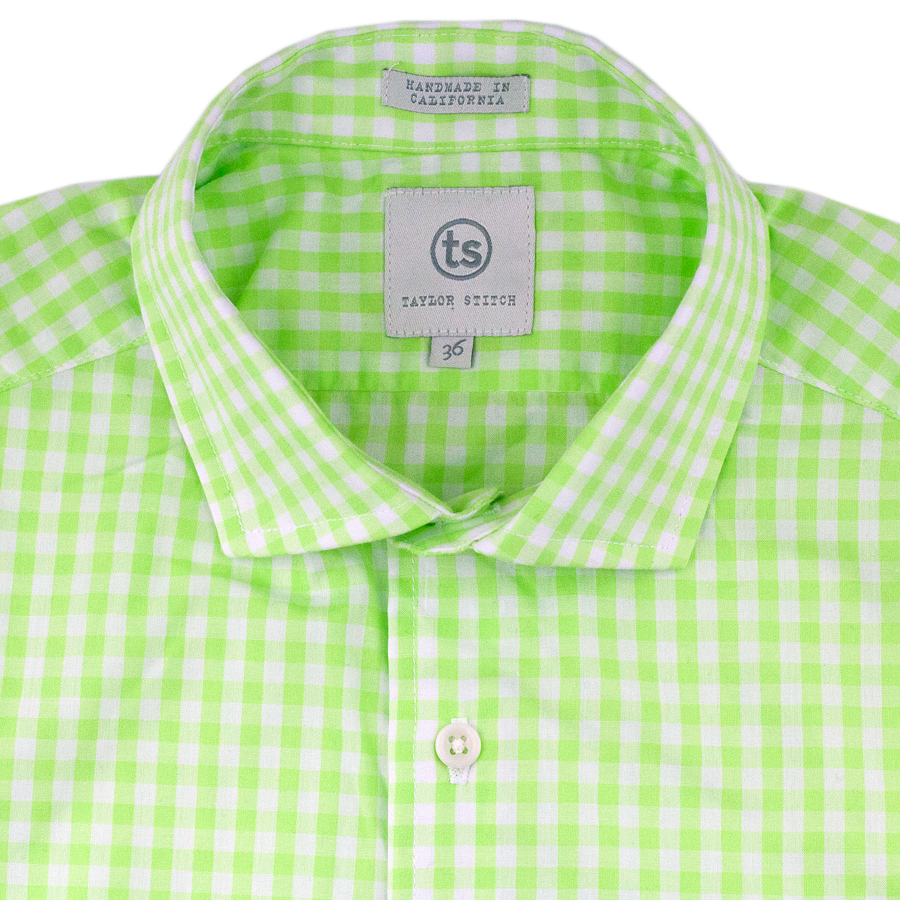 Lime Green Gingham English: Featured Product Image