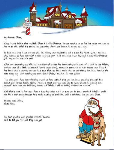 Sample Letters From Santa Claus  Printable Santa Letters  Print
