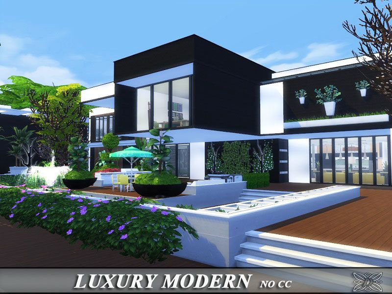modern house for the medium family. found in tsr category 'sims 4