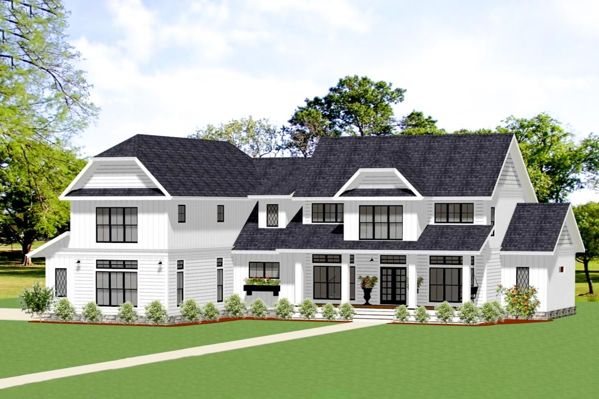 Plan 46390LA Breathtaking Farmhouse Plan with Twostory