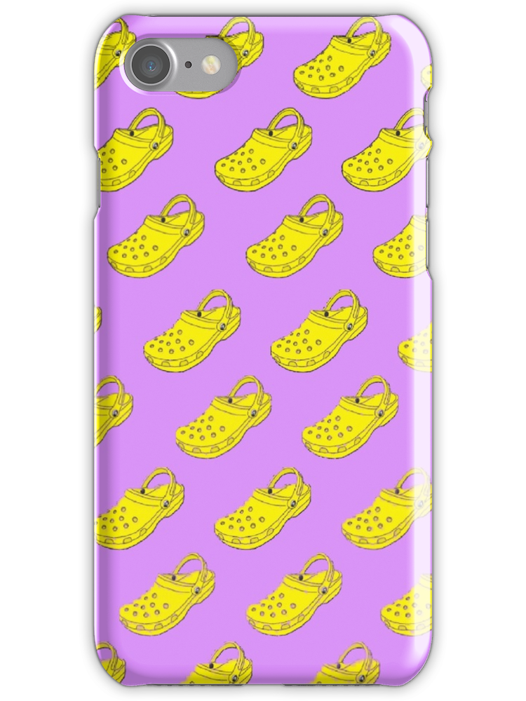 'Cute Crocs Pattern' iPhone Case by abbyconnellyy