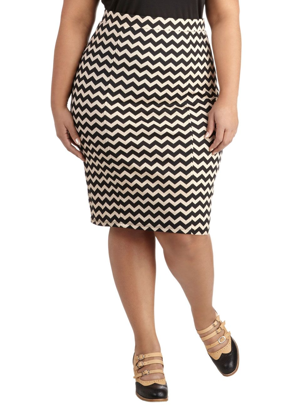 7ce05f5cc83 Style Essential Skirt in Zigzag – Plus Size. Whether youre going for sleek  and sophisticated or cute and casual