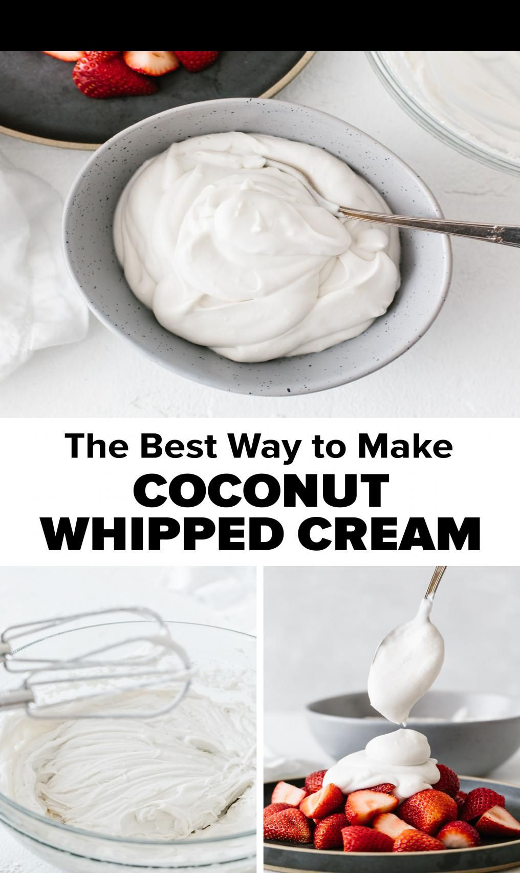 Learn How To Make Coconut Whipped Cream Coconut Whipped Cream Is A Delicious Dairy Free And Vegan Alternat In 2020 Coconut Whipped Cream Vegan Alternatives Dairy Free