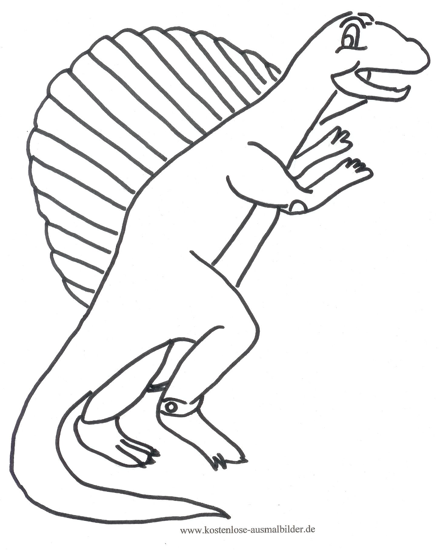 Ausmalbild Dino ausdrucken  Malvorlage dinosaurier, Malvorlagen