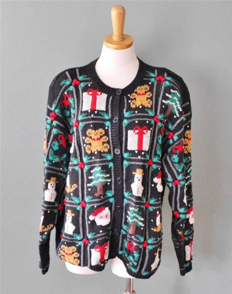 Mens 3x Ugly Christmas Sweater.Ugly Christmas Sweater Women 3x Men 2xl Xxl Cardigan Cotton Busy Two