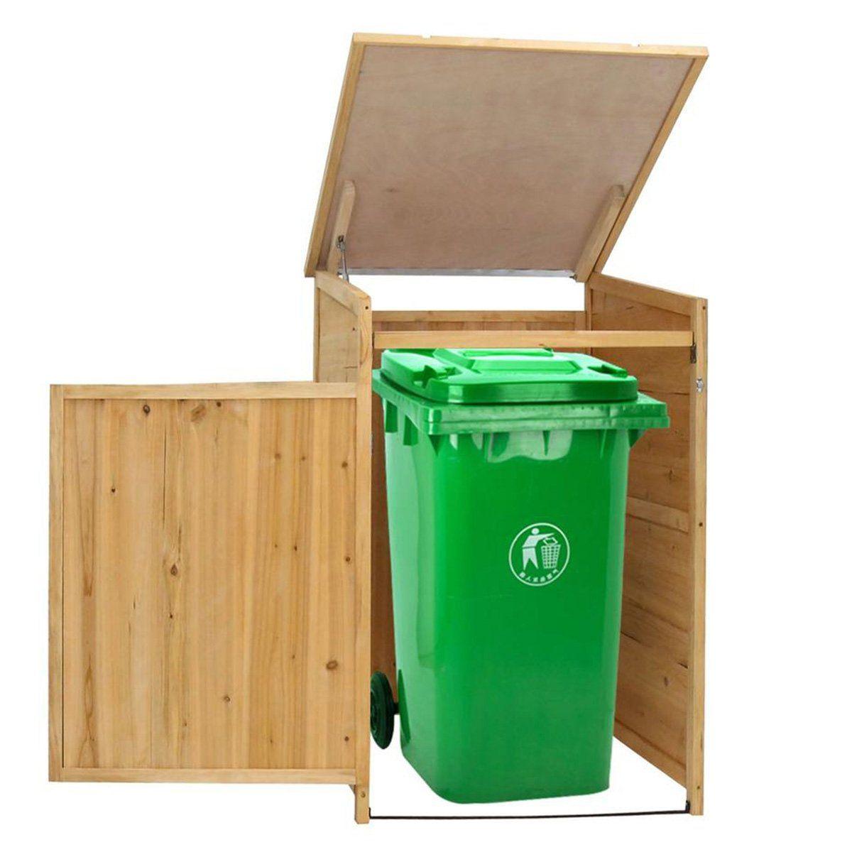 9 Ways To Disguise Your Trash Bin Garbage Storage Outdoor Garbage Storage Trash Bins