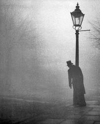 fog, lantern, November, atmosphere