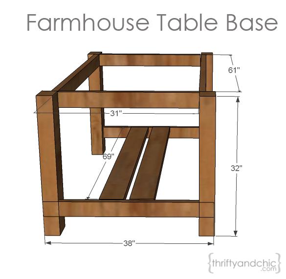 DIY Outdoor Farmhouse Table | Farmhouse table base ...