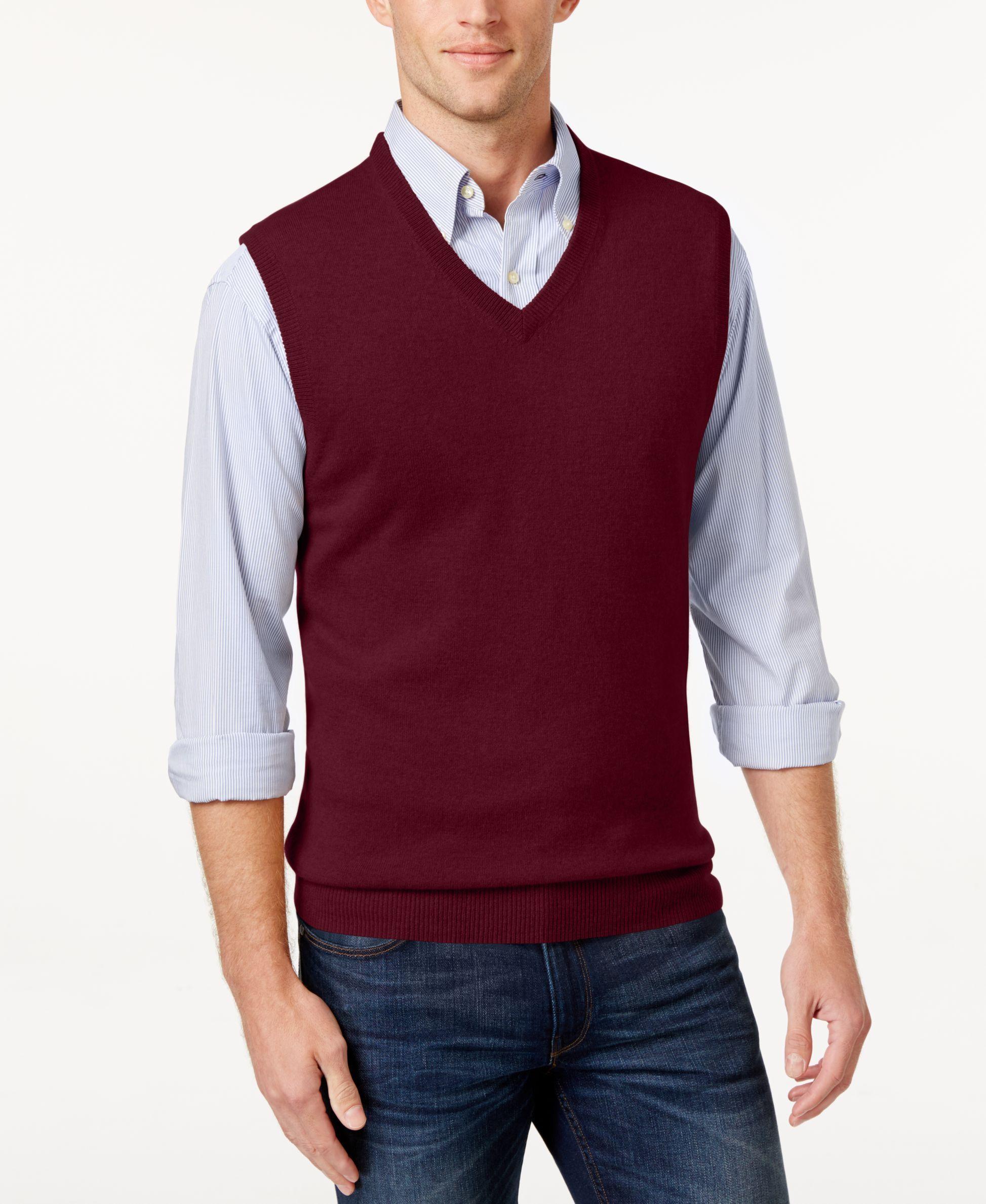 Club Room Cashmere Solid Sweater Vest | Cardigans For Men | Pinterest