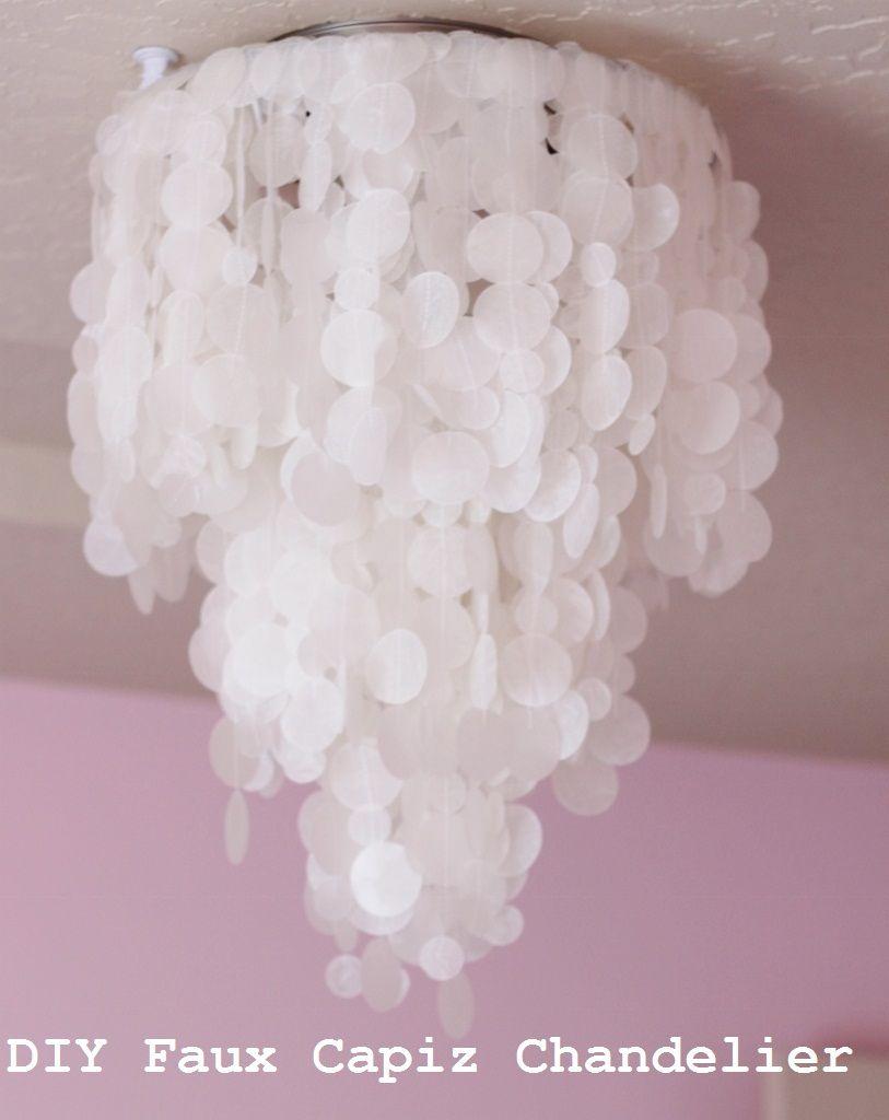 Making house a home diy faux capiz shell chandelier audreys room making house a home diy faux capiz shell chandelier aloadofball Image collections