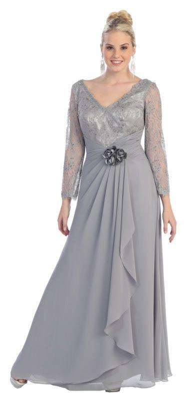 Mother Of Bride Dress Long Plus Size Formal