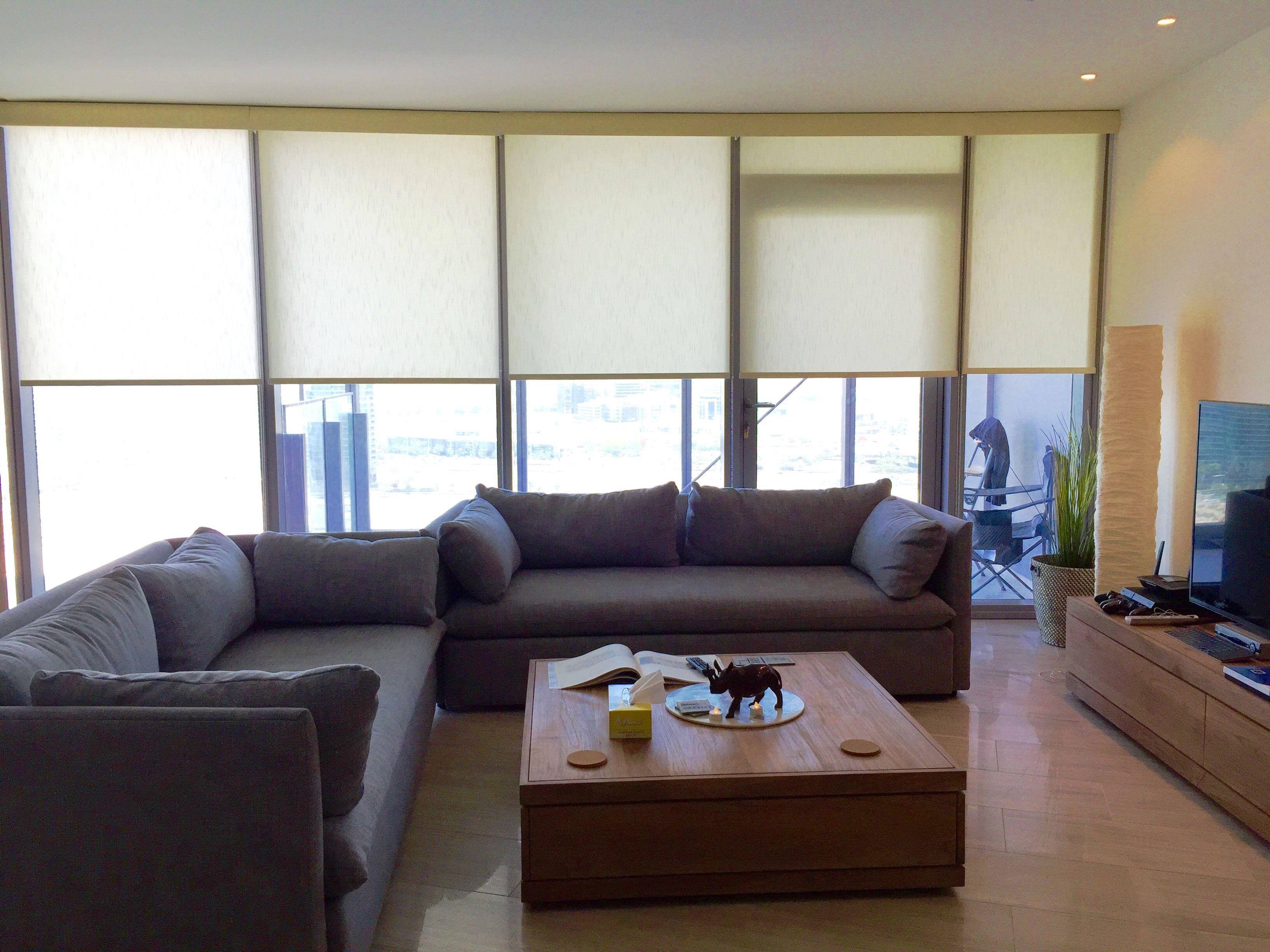 Cream roller binds in living room testimonials rimini blinds
