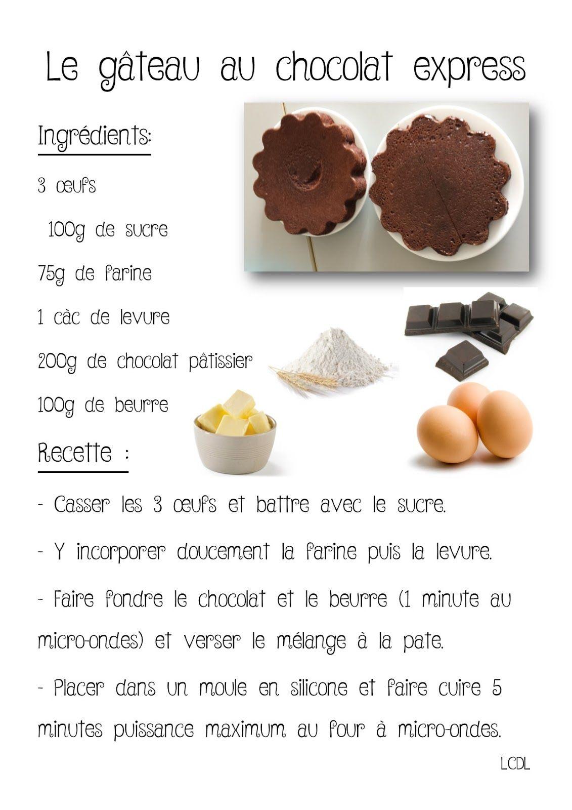 La Maternelle De Laurene Gateau Chocolat Express Micro Ondes Miam