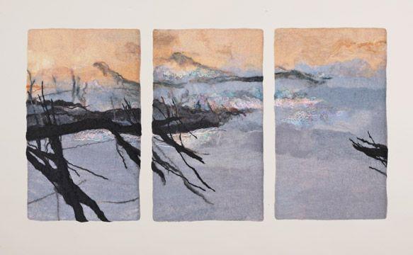 Stillness III   Handmade Felt   28 x 52 x 2 in.   $3200