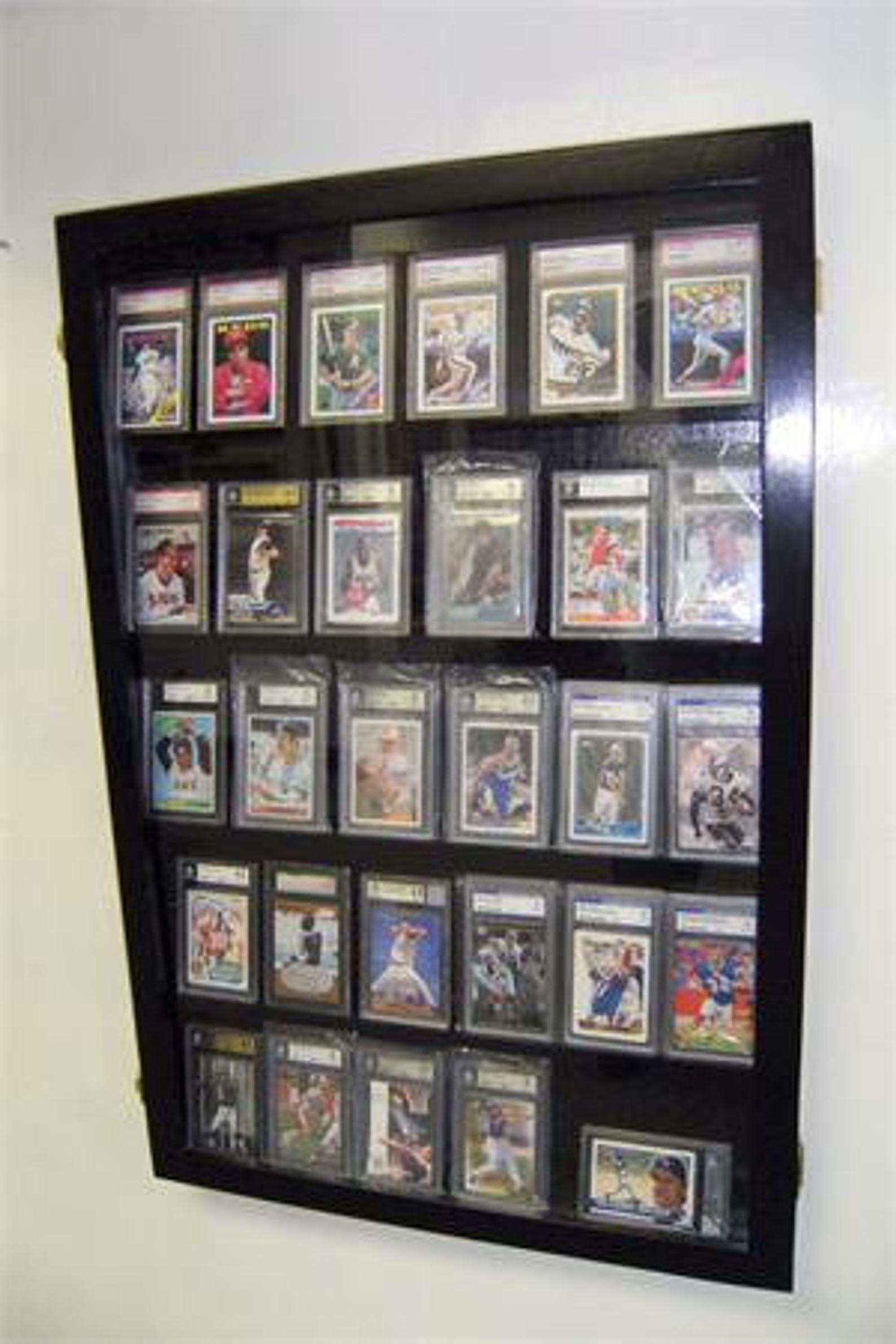 Baseball football sports card display case display case