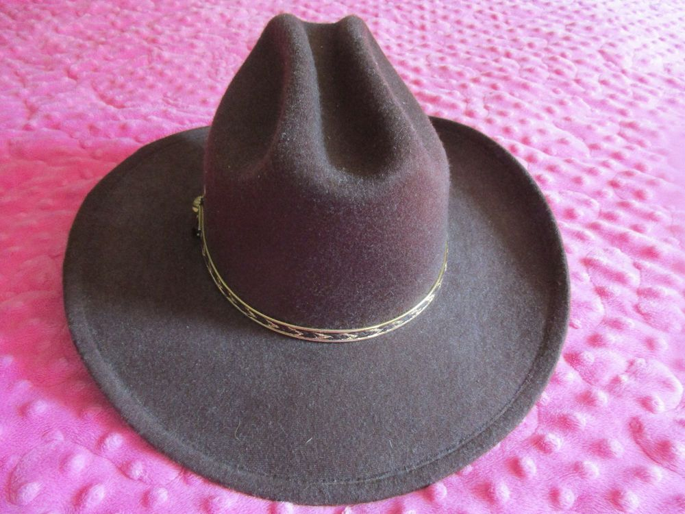 c3f741703a5fd VGUC Western Express Inc Kids Size Brown Cowboy Hat with Gold Braid Costume   fashion  clothing  shoes  accessories  costumesreenactmenttheater   accessories