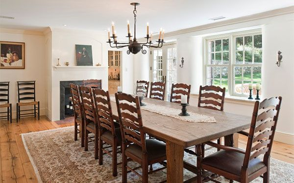 Stunning Farmhouse Dining Room The Fireplace Of Designs