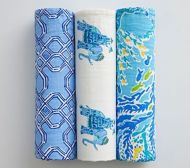 Lilly Pulitzer Muslin Swaddle Set Pottery Barn Lilly