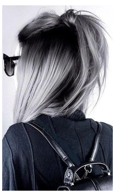 Short Grey Hair Men 2021 Kisa Sac Uzun Sac Golgeli Sac