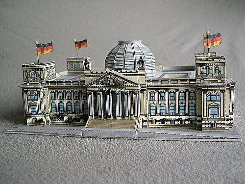 Reichstag building in berlin by bastelbogen online for Parlamento on line