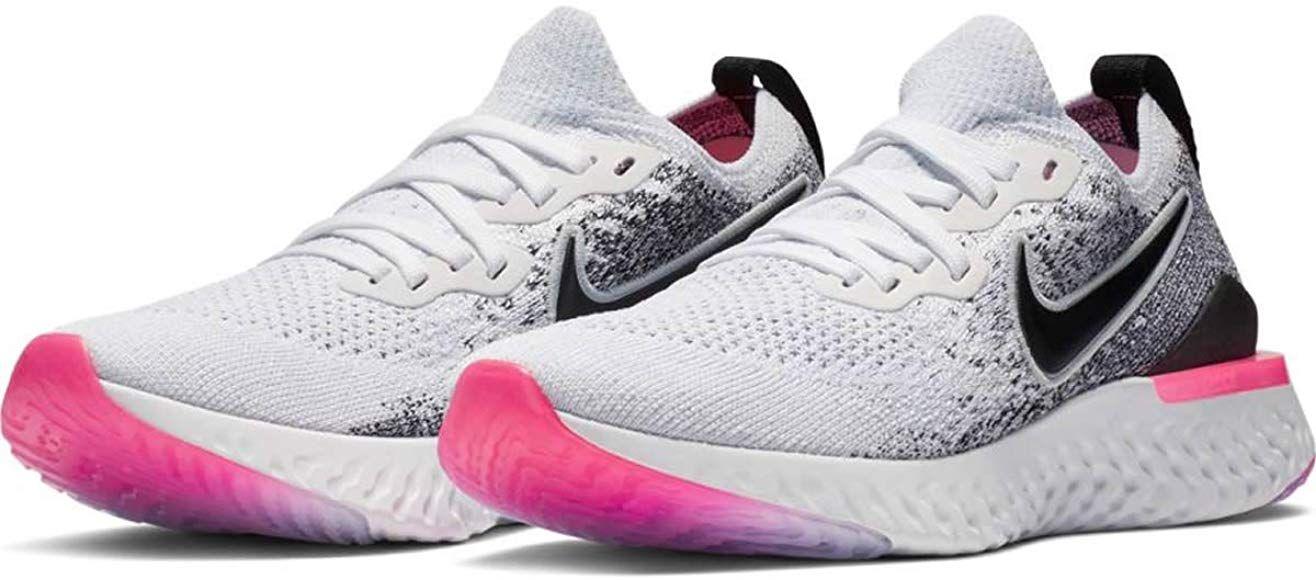 Fundir balsa frecuencia  Amazon.com   Nike Epic React Flyknit 2 Women's Running Shoe  White/Black-Hyper Pink-Blue Tint 9.0   Runnin…   Adidas sneakers women, Womens  running shoes, Nike women