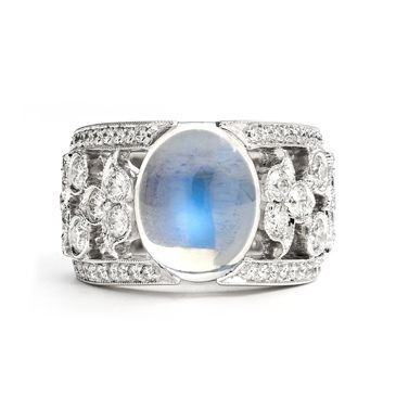 Moonstone and diamond