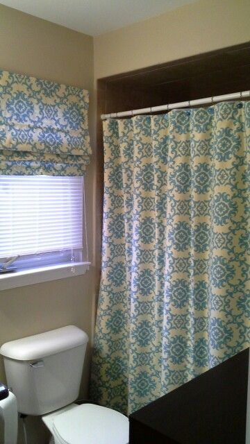 Shower Curtain And Matching Roman Shade Curtains Shower Curtain