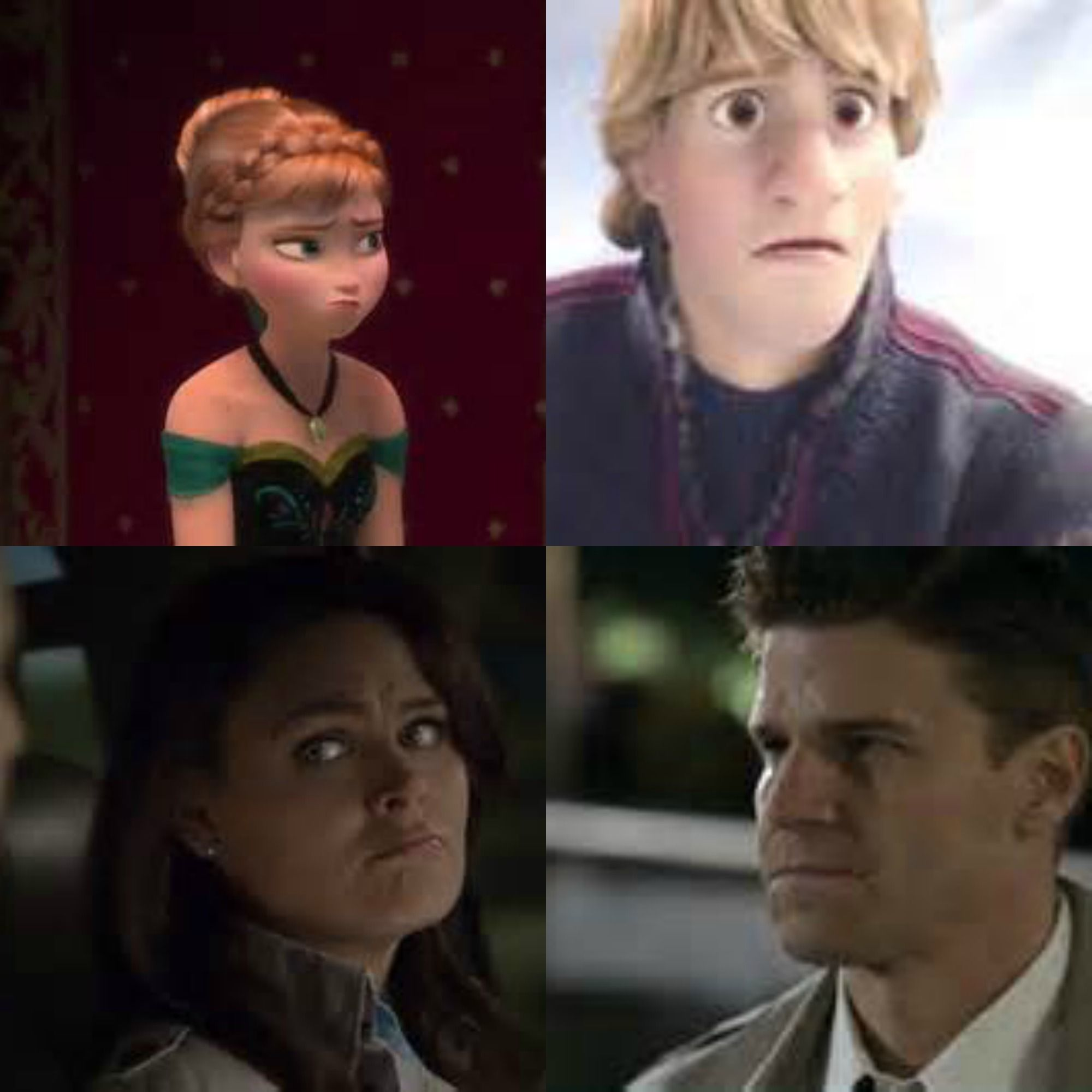 Booth and Bones are Kristoff and Anna.