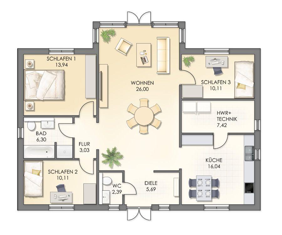 kategorie bungalow villa ulf svenssen 111m ev plan pinterest haus haus ideen und. Black Bedroom Furniture Sets. Home Design Ideas