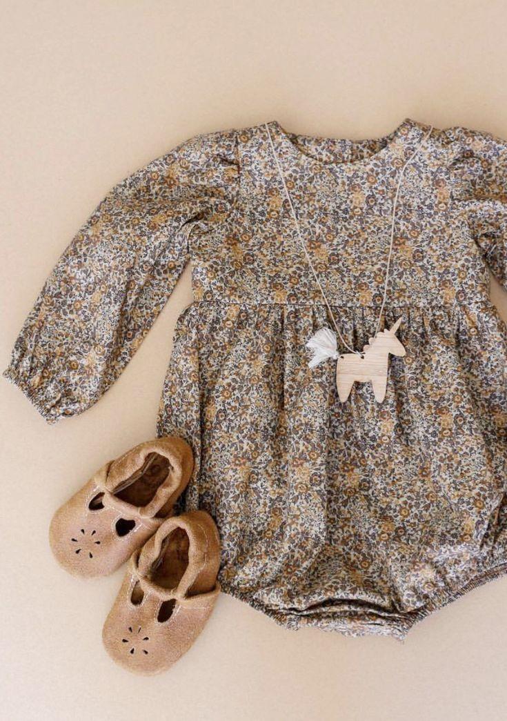 Handmade Liberty of London Vintage Style Baby Romper