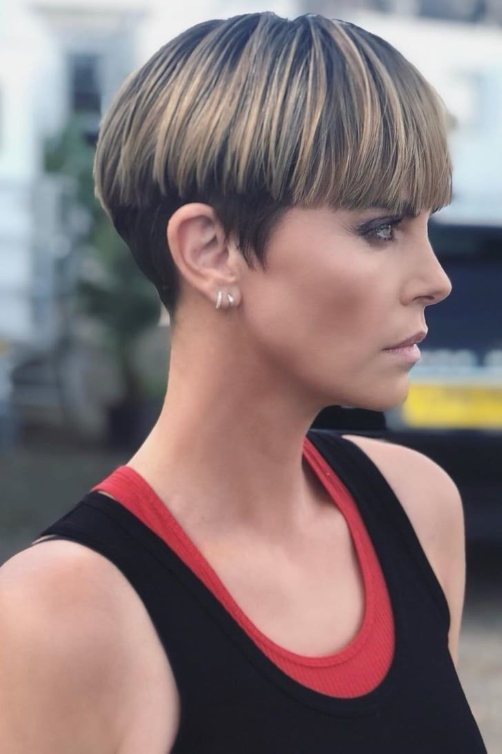 Of Course Charlize Theron Can Make a Bowl Cut Look Hot