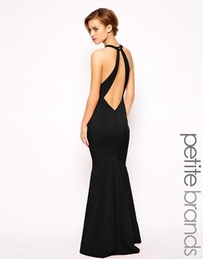 Jarlo Petite Backless Maxi Dress - Black