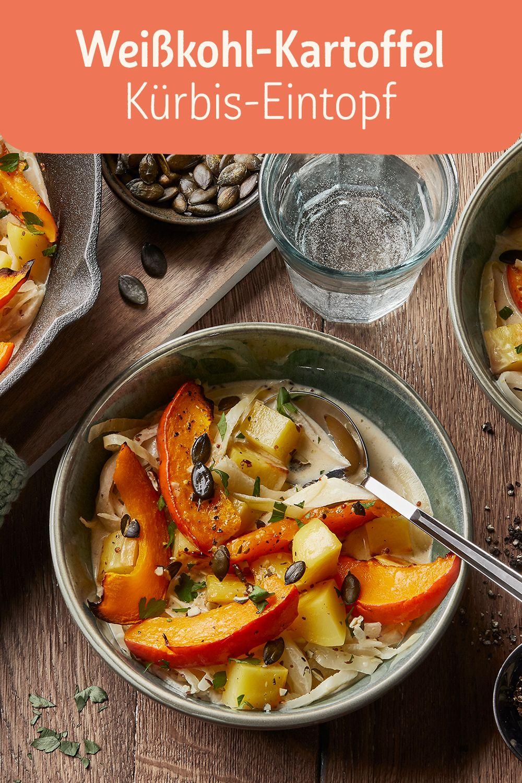 Weisskohl-Kartoffel-Kürbis-Eintopf Weißkohl gilt als typisches Wintergemüse und wird häufig in den kalten Wintermonaten zubereitet. Tatsächlich wächst das Gemüse aber schon ab April auf unseren Feldern und ist ganzjährig zu kaufen.