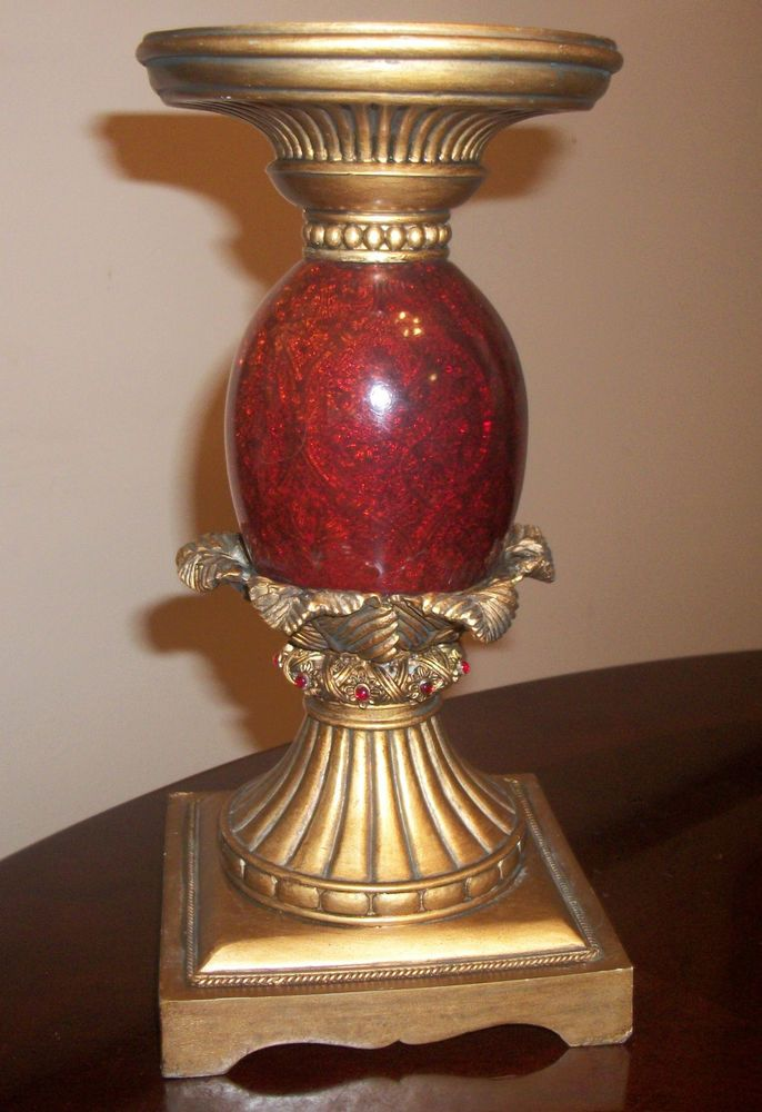 """Stunning Pineapple-Style Pillar Candle Holder - 10.5"""" tall by 5"""" wide"""