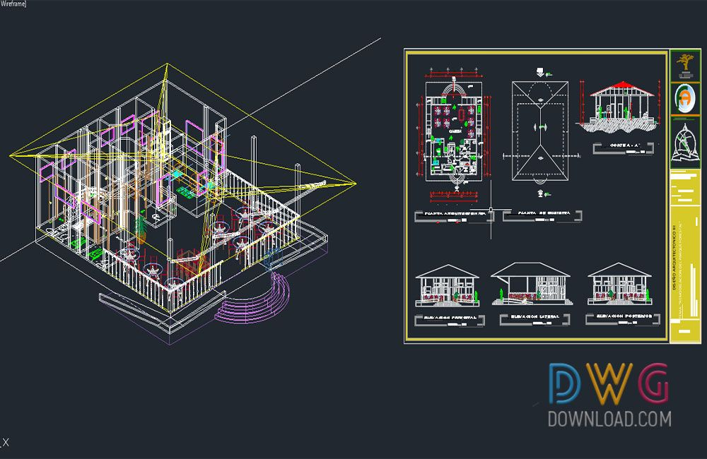 Dwg Download -Restaurant 3D And 2D Dwg Project   Projects ...