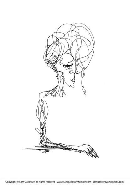 Line Drawing Figure : Continuous line pinterest drawings contour