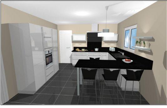 cuisine en u id es renovation pinterest cuisines plan de cuisine et deco rangement. Black Bedroom Furniture Sets. Home Design Ideas
