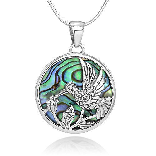 """Red Heart Necklace Abalone Shell Pendant Womens Silver Fashion Jewellery 18/"""""""
