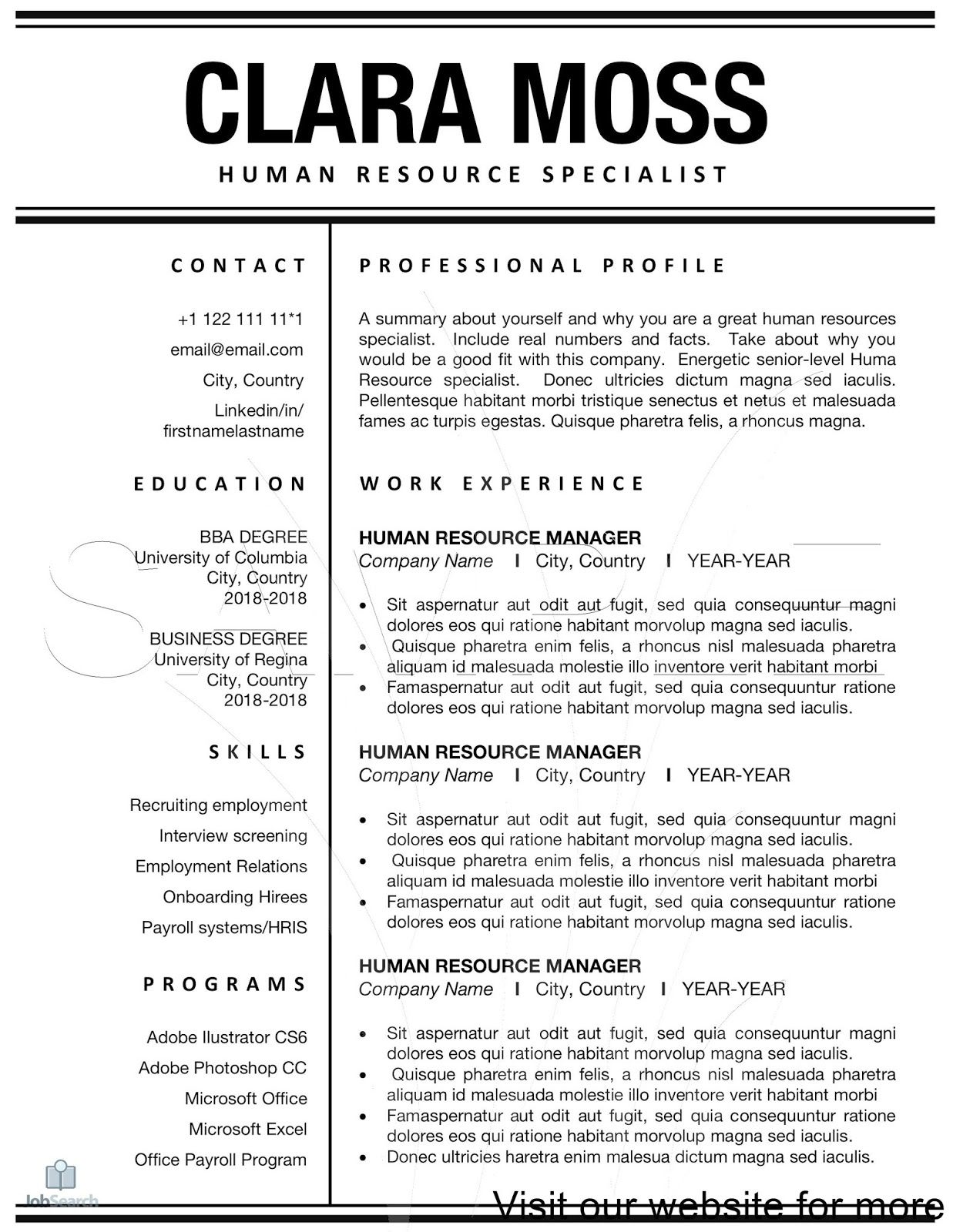 human resources management templates, career, pictures