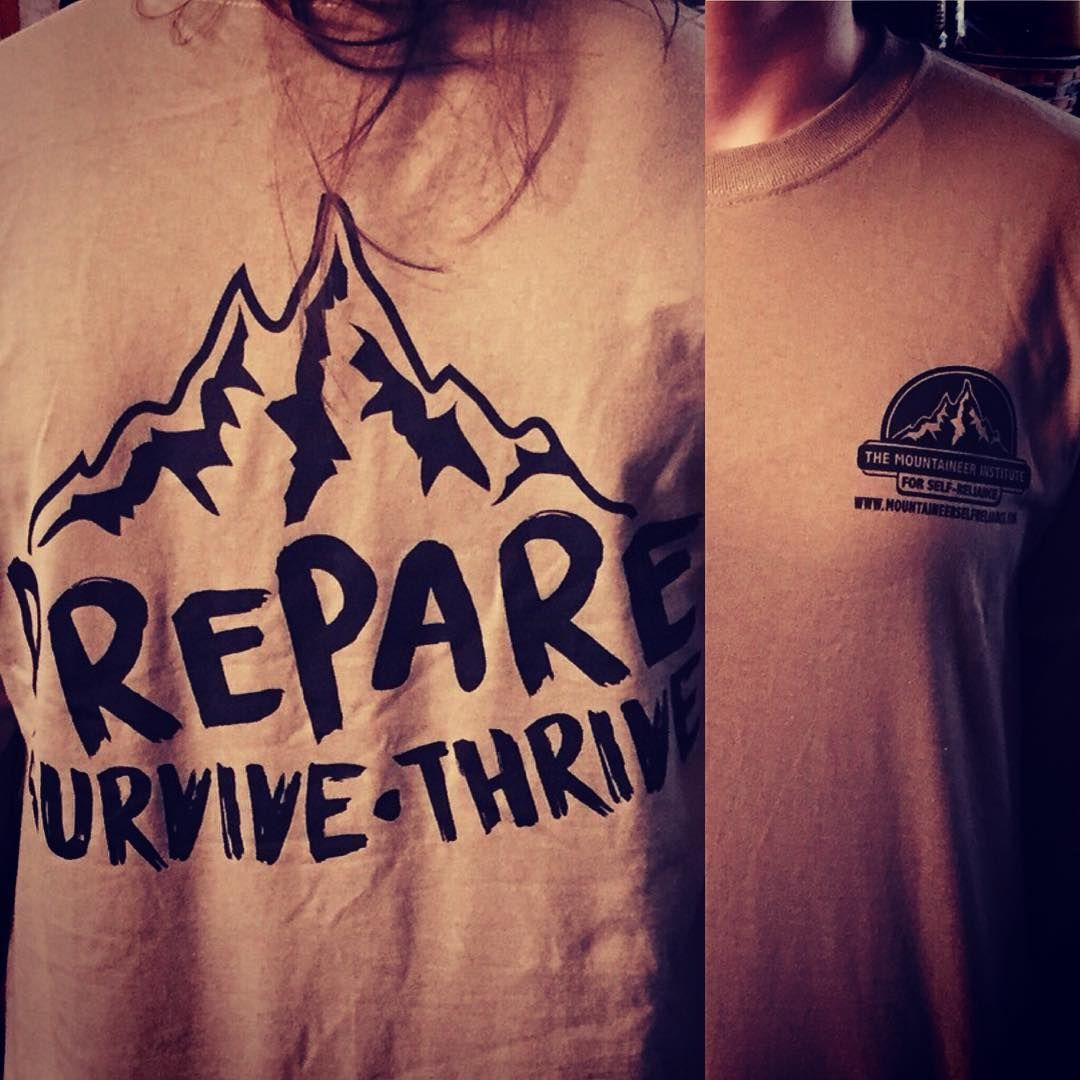 We are giving some of these shirts away for free!  Check out our FaceBook page to learn how to win one!  #misr #MountaineerSelfReliance