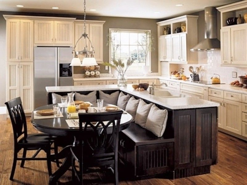 kitchen booth seating on pinterest kitchen booths kitchen corner b - Booth Kitchen Table